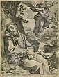 AGOSTINO CARRACCI (after Vanni) Saint Francis Consoled by the Musical Angel