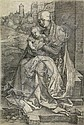 ALBRECHT DÜRER Virgin and Child Seated by the Wall.