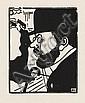 JEAN-ÉMILE LABOUREUR Portrait de Toulouse-Lautrec.