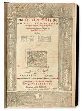 DIONYSIUS of Halicarnassus.  De origine urbis Romae, & Romanorum rerum antiquitate insignes historiae.  1529