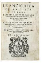 GAMUCCI, BERNARDO. Le Antichità della Città di Roma. 1588