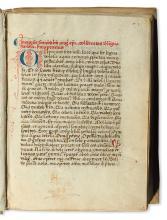 MANUSCRIPT.  Augustinus, Aurelius, Saint; et al. Sermones ad heremitas [and other texts].  Italy, early 15th century