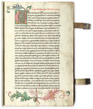 MANUSCRIPT.  Petrus Lombardus. Sententiarum libri IV.  Manuscript in Latin on paper.  Bohemia, 1463