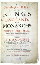 SANDFORD, FRANCIS. A Genealogical History of the Kings of England, and Monarchs of Great Britain, &c.  1677