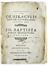 PORTA, GIOVANNI BATTISTA DELLA. Magiae naturalis libri viginti.  1558