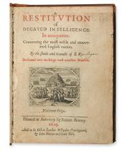 ROWLANDS or VERSTEGAN, RICHARD.  A Restitution of Decayed Intelligence.  1605