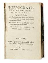 HIPPOCRATES.  De aere, aquis, & locis liber.  1557 + De flatibus.  1557
