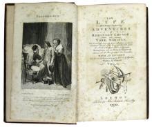 DEFOE, DANIEL. The Life and Strange Surprizing Adventures of Robinson Crusoe, of York, Mariner.  2 vols.  1790