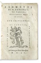 VARCHI, BENEDETTO. I Sonetti. 1555