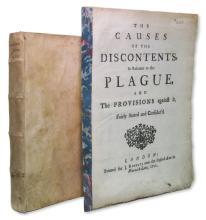 PLAGUE.  Maurice de Toulon. Trattato Politico da Pratticarsi ne' Tempi di Peste. 1661 + Gibson, Edmund.  The Causes of the Discontents