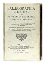 MONTFAUCON, BERNARD DE. Palaeographia Graeca.  1708