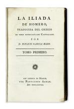 HOMER.  La Iliada.  3 vols.  1788