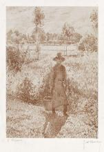 CAMILLE PISSARRO and GEORGE W  THORNLEY Le Jardinier
