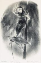 YASUO KUNIYOSHI Tight Rope Performer.