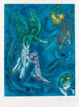 MARC CHAGALL (after) La Lutte de Jacob et de l'Ange
