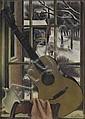 SIMKA SIMKHOVITCH Window Still Life with Guitar.