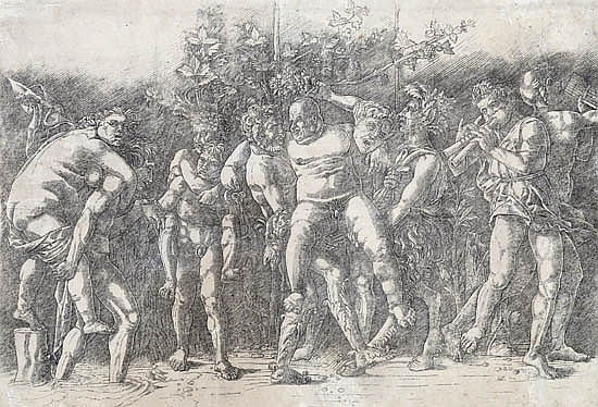 ANDREA MANTEGNA Bacchanal with Silenus.