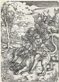ALBRECHT DÜRER Sampson Fighting with the Lion.