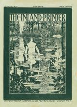 WILLIAM H. BRADLEY (1868-1962). THE INLAND PRINTER. Group of 7 covers. 1894. Each approximately 11x8 inches, 29x21 cm.