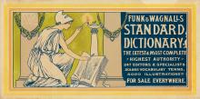 GEORGE WHARTON EDWARDS (1859-1950). FUNK & WAGNALLS STANDARD DICTIONARY. 1896. 12x21 inches, 31x55 cm.