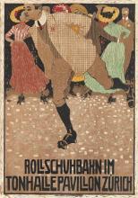 BURKHARD MANGOLD (1873-1950). ROLLSCHUHBAHN. 1910. 39x27 inches, 100x70 cm. J.E. Wolfensberger, Zurich.