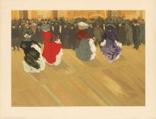 ABEL TRUCHET (1857-1918). LA QUADRILLE. 1900. 25x35 inches, 64x90 cm. Eugène Verneau, Paris.