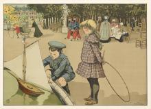 ABEL TRUCHET (1857-1918). [LUXEMBOURG GARDENS.] Circa 1900. 25x35 inches, 64x90 cm