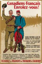 VARIOUS ARTISTS. [WORLD WAR I / CANADA.] Two posters. Sizes vary.