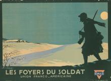 GEORGES DORIVAL (1879-1968). LOS FOYERS DU SOLDAT. 1918. 28x39 inches, 72x99 cm. Atelier Geo. Dorival, Paris.