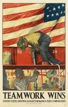 HIBBERD VAN BUREN KLINE (1885-1957). TEAMWORK WINS. 1917. 41x26 inches, 104x66 cm. Thomsen-Ellis, Baltimore.