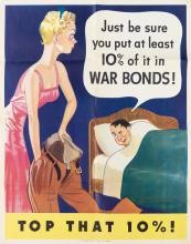 VARIOUS ARTISTS. [WAR POSTERS.] Group of 23 posters and 1 brochure. Sizes vary.