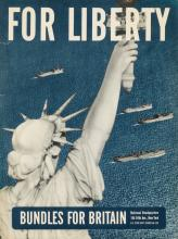 DESIGNER UNKNOWN. FOR LIBERTY / BUNDLES FOR BRITAIN. 16x12 inches, 40x30 cm.