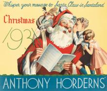 DESIGNER UNKNOWN. ANTHONY HORDERNS' / CHRISTMAS. 1931. 25x29 inches, 64x75 cm.