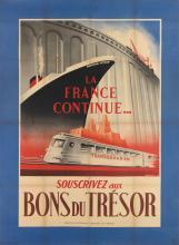 ROBERT FALCUCCI (1900-1989). BONS DU TRÉSOR. 1942. 60x45 inches, 153x114 cm. Bedos & Cie., Paris.