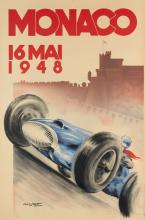 GEO HAM (GEORGES HAMEL, 1900-1972). MONACO. 1948. 47x31 inches, 120x80 cm. Monégasque, Monte-Carlo.