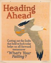 HENRY LEE JR. (DATES UNKNOWN). HEADING AHEAD / WHAT'S YOUR FAILING? 1929. 44x36 inches, 111x91 cm. Mather & Company, Chicago.