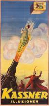 DESIGNER UNKNOWN. KASSNER / ILLUSIONEN. Circa 1930. 81x37 inches, 205x95 cm. Adolph Friedlander, Hamburg.