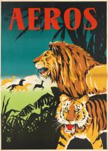 DESIGNER UNKNOWN. AEROS. Two posters. Each approximately 46x33 inches, 118x83 cm.