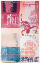 ROBERT RAUSCHENBERG (1925-2008). THE UNITED NATIONS CONFERENCE ON HUMAN SETTLEMENTS / HABITAT II. 1996. 39x25 inches, 99x63 cm. Robert