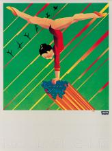 VARIOUS ARTISTS. 1980 OLYMPIC GAMES / LEVI'S. Group of 6 posters. 1979. Each 24x18 inches, 61x45 cm. Levi Strauss & Co., San Francisco