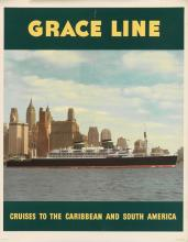 VARIOUS ARTISTS. GRACE LINE. Group of 3 posters. Circa 1950s. Each approximately 30x23 inches, 76x58 cm.