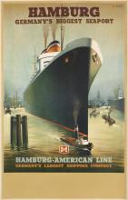 PAUL THEODORE ETBAUER (1892-1975). HAMBURG / GERMANY'S BIGGEST SEAPORT. 39x25 inches, 101x64 cm.