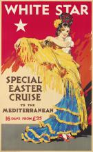T.J. BOND (DATES UNKNOWN). WHITE STAR / SPECIAL EASTER CRUISE. 1931. 39x24 inches, 100x61 cm. The Liverpool Printing & Stationery Co.,