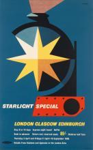 ABRAM GAMES (1914-1996). STARLIGHT SPECIAL. 1957. 39x25 inches, 101x63 cm. The Baynard Press, [London.]