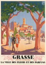 ROGER BRODERS (1883-1953). GRASSE. 1927. 42x30 inches, 106x76 cm. Lucien Serre, Paris.