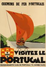 JEAN DE LUZ (DATES UNKNOWN). VISITEZ LE PORTUGAL. 38x24 inches, 98x61 cm. Jules Simon, Paris.