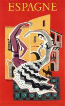 BERNARD VILLEMOT (1911-1989). ESPAGNE. 1957. 38x23 inches, 97x59 cm. Fournier, Vitoria.