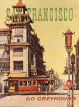 NICK SCIURBA (DATES UNKNOWN). SAN FRANCISCO / GO GREYHOUND. Circa 1960s. 38x28 inches, 96x71 cm.