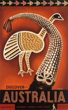 EILEEN MAYO (1906-1994). DISCOVER . . AUSTRALIA. Circa 1957. 39x24 inches, 100x63 cm. McLarens, Melbourne.