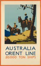 PERCIVAL ALBERT (PERCY) TROMPF (1902-1964). AUSTRALIA ORIENT LINE / 20,000 TONS OF SHIPS. 40x25 inches, 101x64 cm.